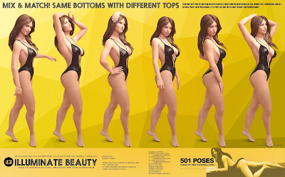 i13 Illuminate Beauty Pose Collection for the Genesis 3 Female