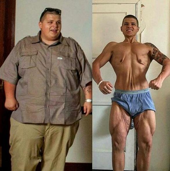 Очень сильно похудел мужчина