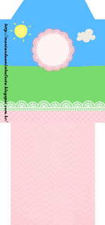 Country field with Pink Lace Free Printable Tea Bag.