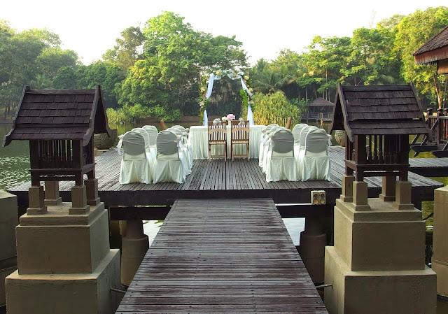 classic deck wedding