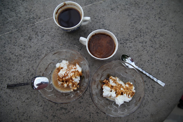 Coffee with anari and carob syrup,, Cyprus pic: Kerstin Rodgers/msmarmitelover.com