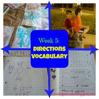 Week 5: Directions Vocabulary
