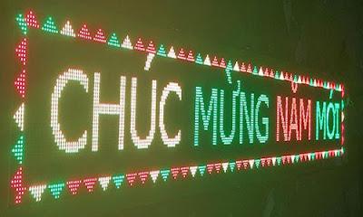 led chay chu