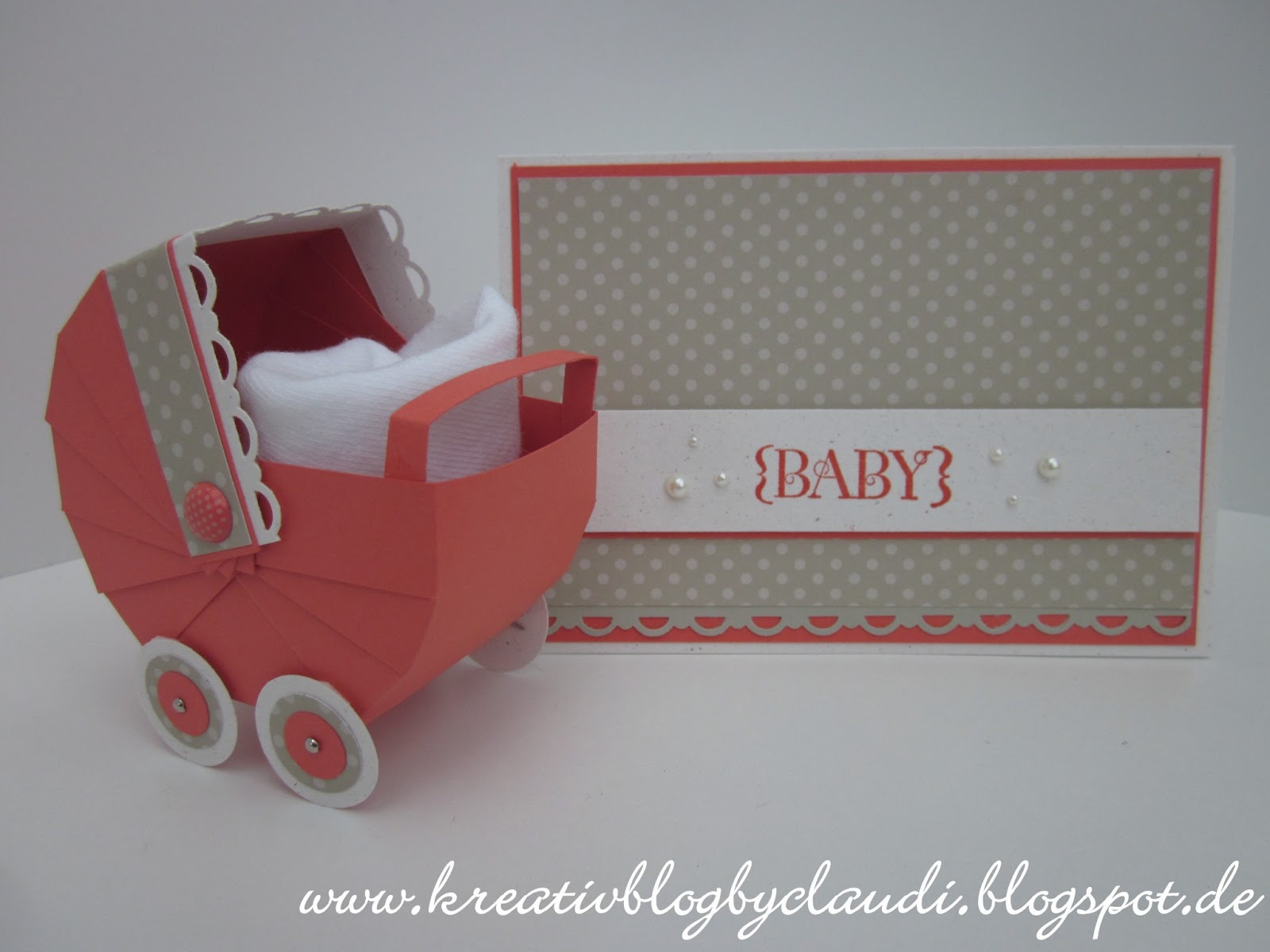 Kreativ by claudi baby karte und stubenwagen