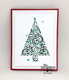 Our Daily Bread Designs Custom Dies: Flourished Tree Inset, Pierced Rectangles, Christmas 2017
