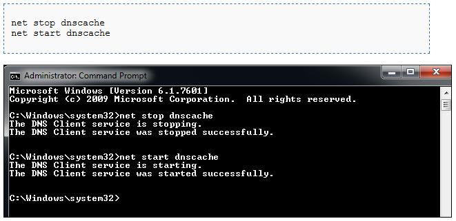 Riavviare il servizio DNS del browser