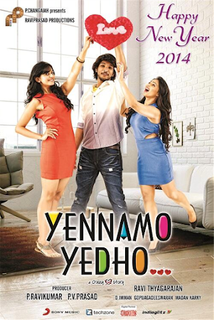 Poster Of Free Download Yennamo Yedho 2014 300MB Full Movie Hindi Dubbed 720P Bluray HD HEVC Small Size Pc Movie Only At worldfree4u.com