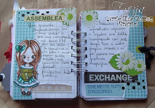 Little Blue Button Stamps: Miss Lilly Tea planner page
