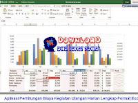 Aplikasi Perhitungan Biaya Kegiatan Ulangan Harian Lengkap Format Excel