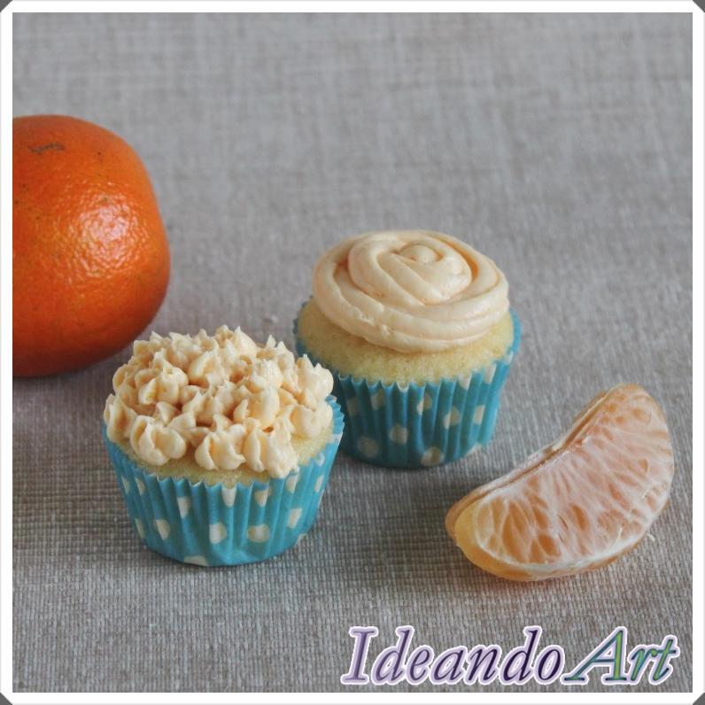 Mini cupcakes naranja