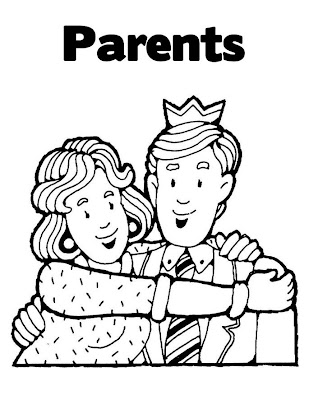 parenting coloring pages | Free coloring pages for parents day | Best Holiday Pictures