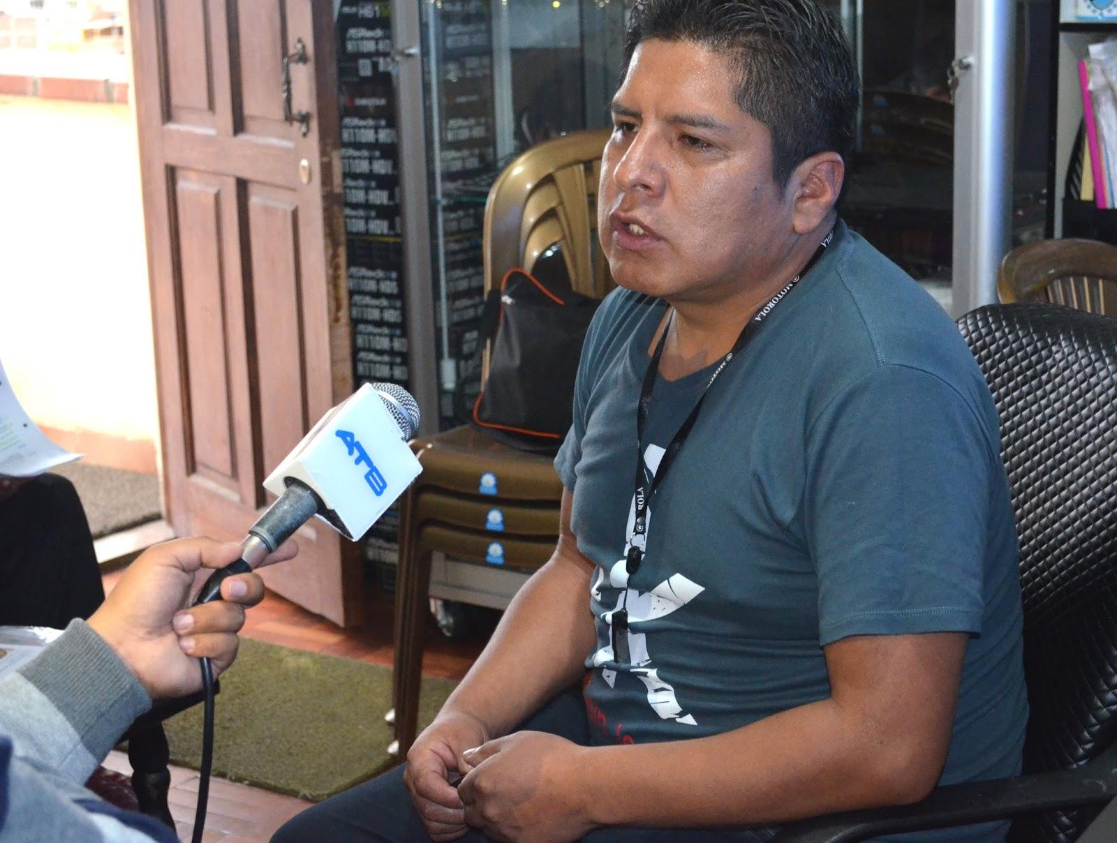 Grover Suntura promotor de proyectos tecnológicos / ALBERTO MEDRANO