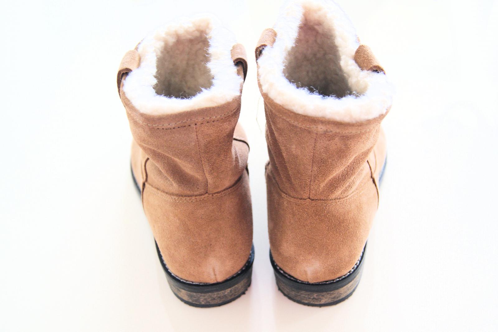 Bruine suéde boots H&M