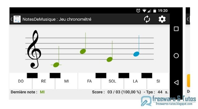 NotesDeMusique : un jeu musical éducatif sur Android pour apprendre la musique en s'amusant