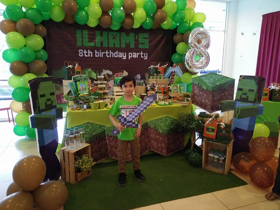 WONDERMAMA PARTY KL Wondermama Candy Buffet Minecraft Theme