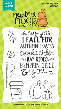 Fall-ing for You | Fall Stamp set by Newton's Nook Designs #newtonsnook #pumpkinspice