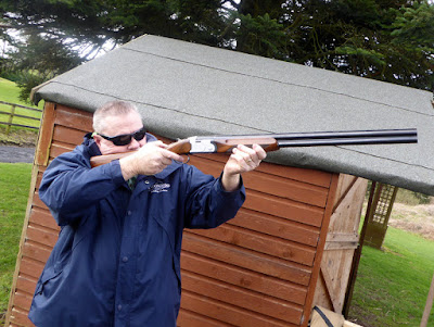 Paul enjoying some Clay Pigeon shooting.