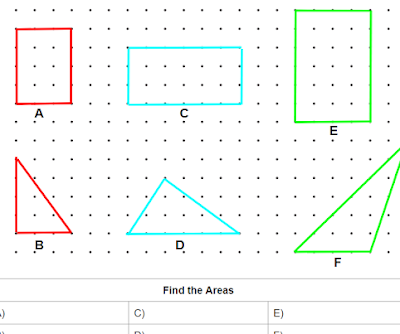 Area of Polygons Discovery Lesson on Dot Paper