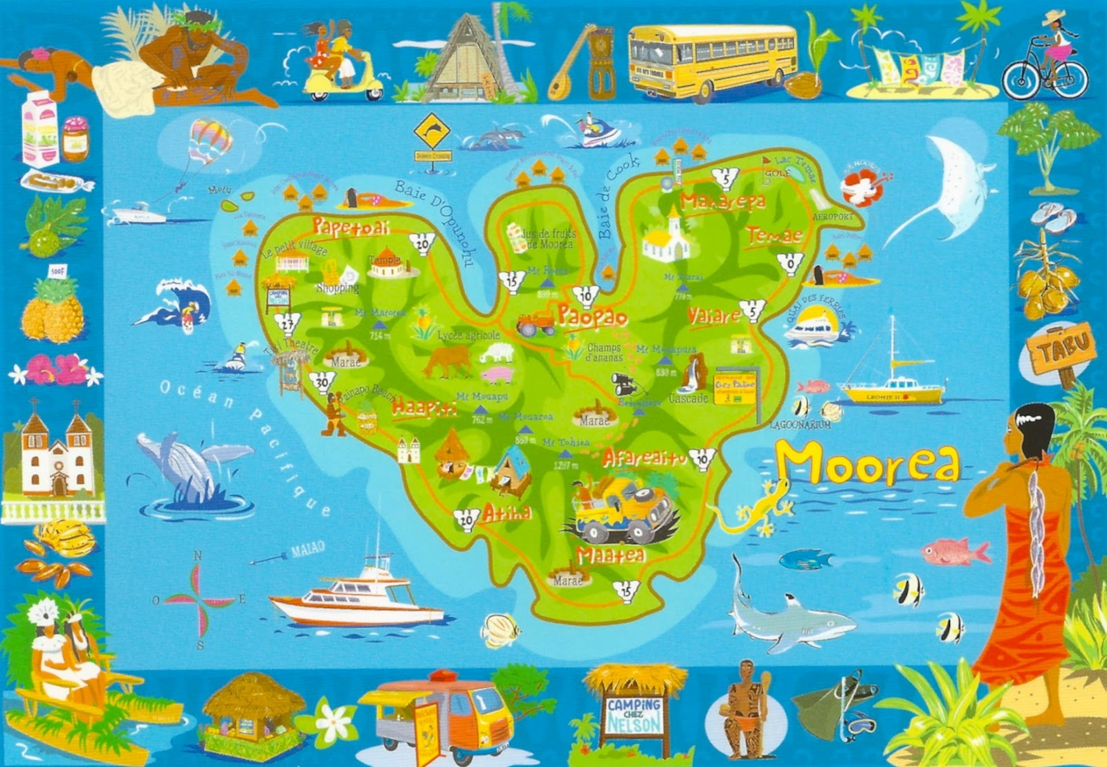 My Favorite Views French Polynesia Moorea Map Of The Island