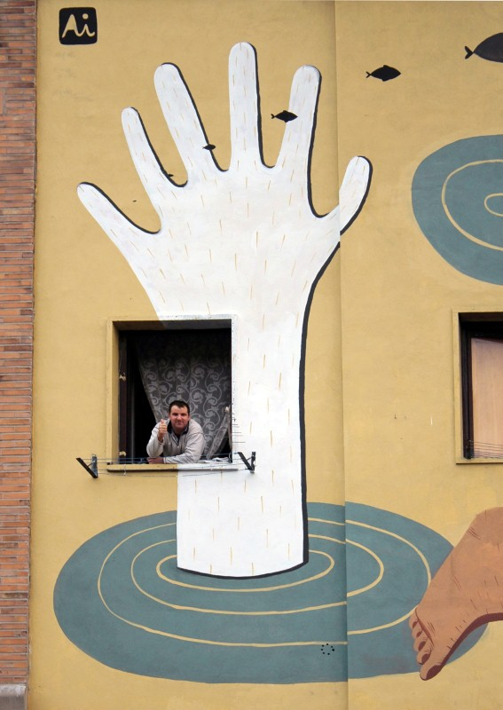 Уличный художник из Италии. Агостино Якурчи (Agostino Iacurci) 23