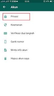 Cara Menyembunyikan Status WhatsApp Pada Kontak Tertentu