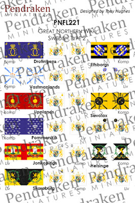 PNFL221   Swedish flags, type 2