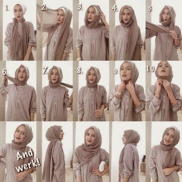 model jilbab pasmina bahan kaos