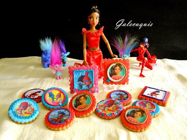 Galletas fondant Elena de Ávalor, Trolls, Ladybug