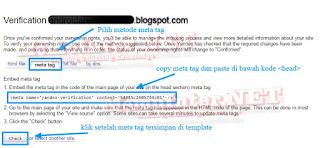 Yandex Verifi Meta Tag