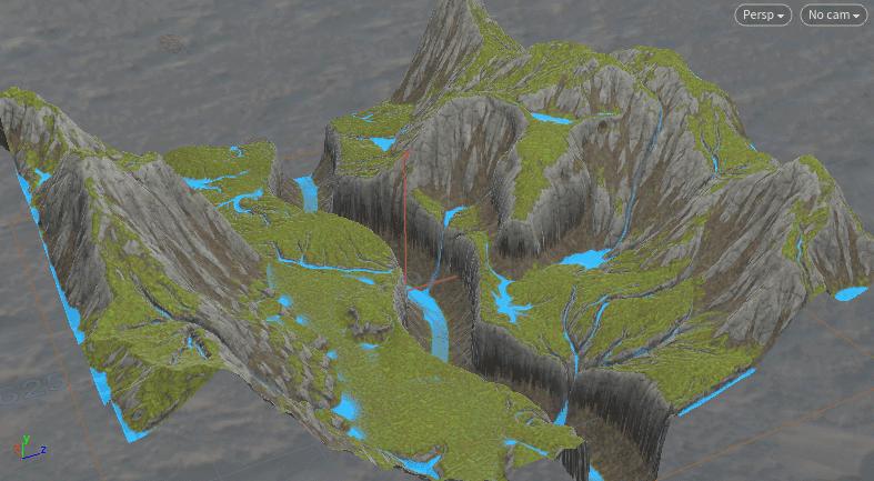 サルにもわかる Houdini: terrain bake textures