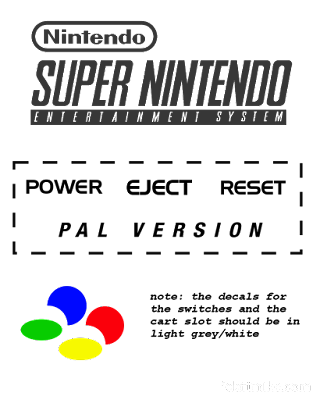 European SNES Decals
