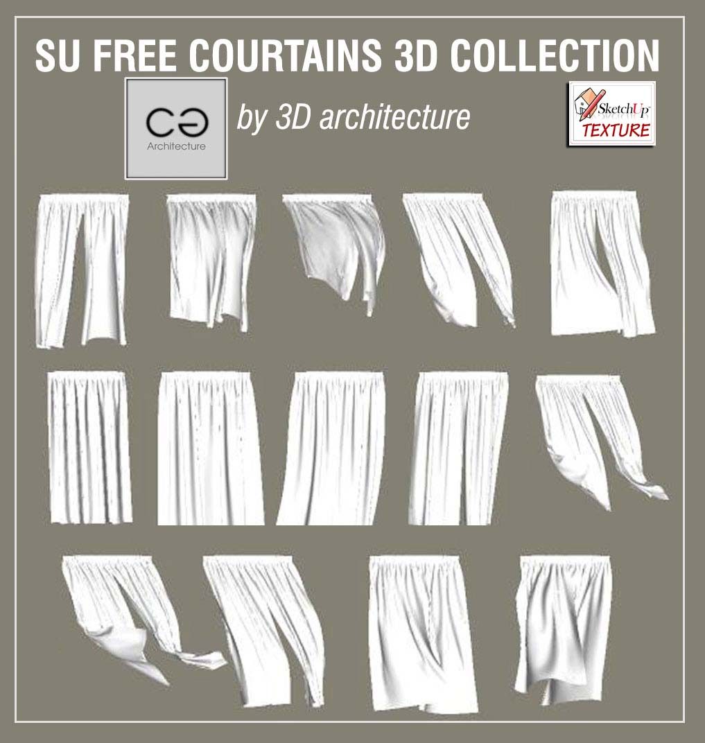 SKETCHUP TEXTURE: Free sketchup 3d models curtains collection #6
