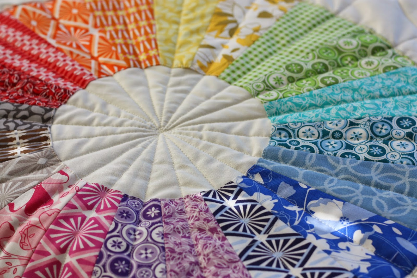 True Colors Modern Dresden Circle Quilt Diary Of A
