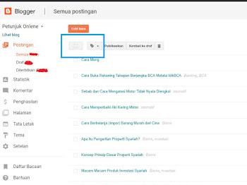 Cara Menghapus / Mengganti Label Postingan Banyak Sekaligus pada Blogger