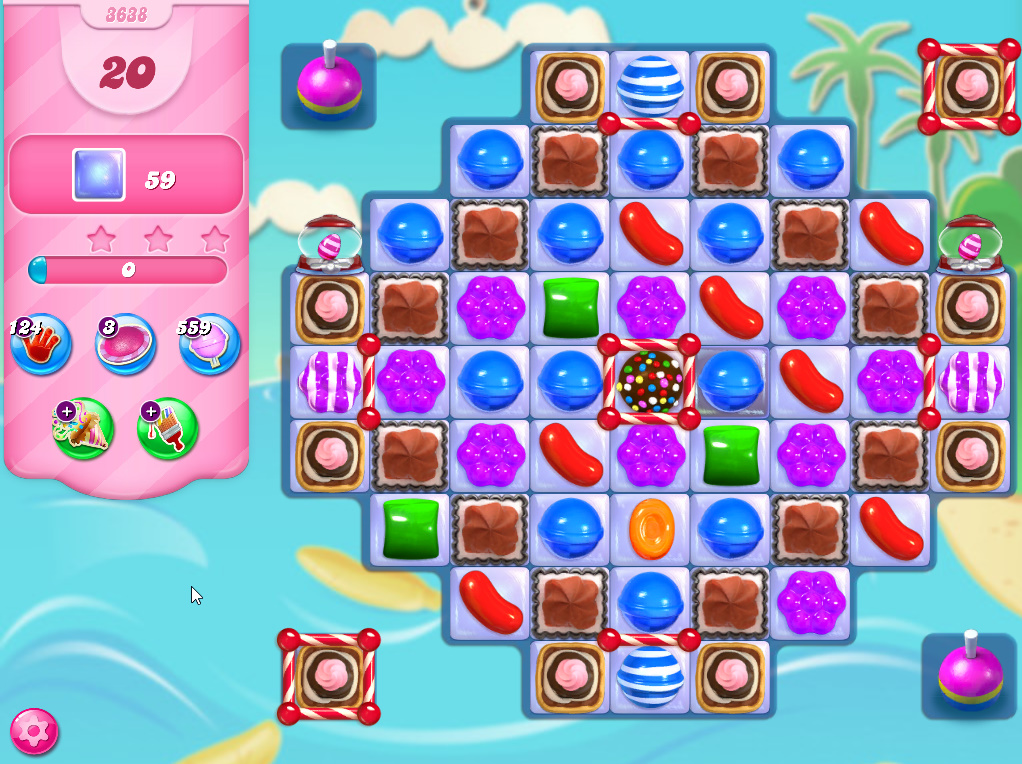 Candy Crush Saga level 3638