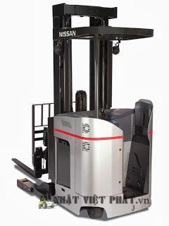 Xe nâng điện Nissan đứng lái 3 tấn xuất xứ Nhật Bản bảo hành lâu dài