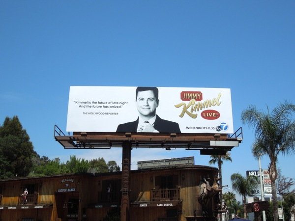 Jimmy Kimmel Live TV billboard
