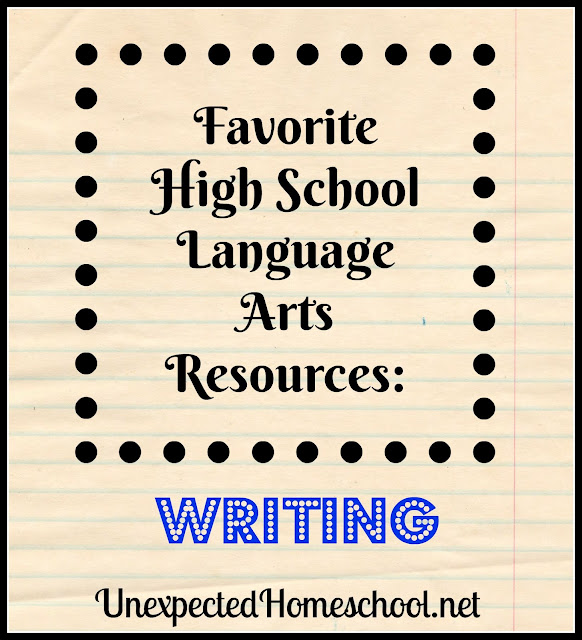 Unexpected Homeschool: Our Favorite Language Arts Resources - Writing