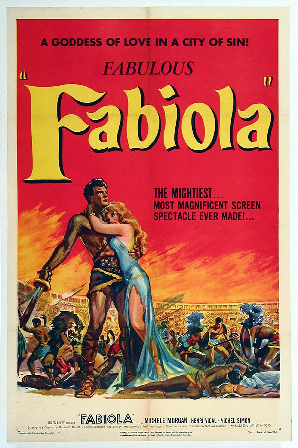 The Evening Class: FABIOLA / THE FIGHTING GLADIATOR (1949)
