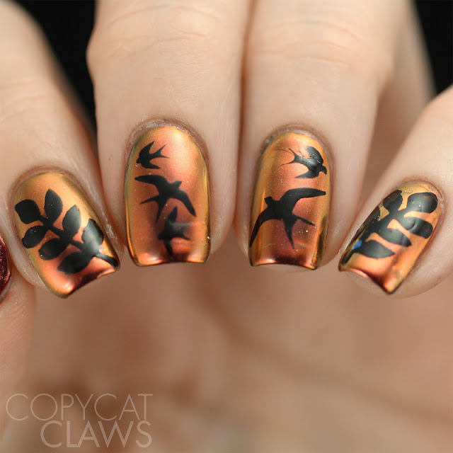 Whats Up Nails Sunset Powder and Stencils