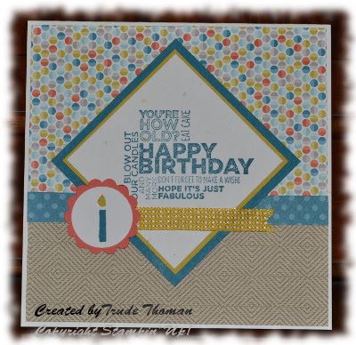 Stamp with Trude, Stampin' Up!, Mojo Monday, Delightful Dozen, birthday card