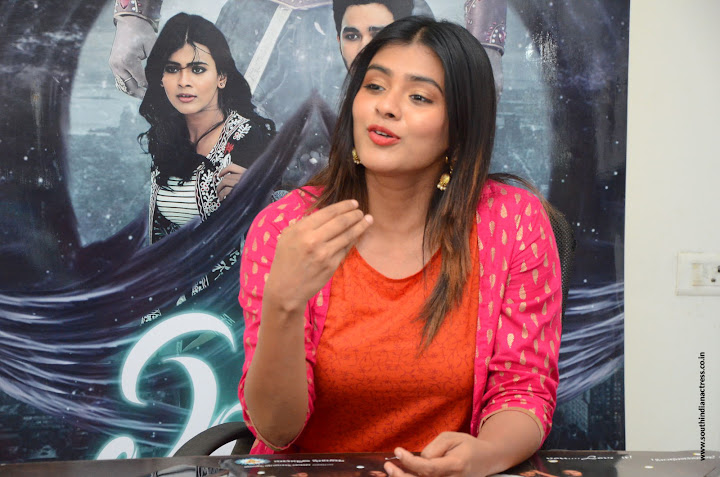 Hebah Patel at Angel movie Interview