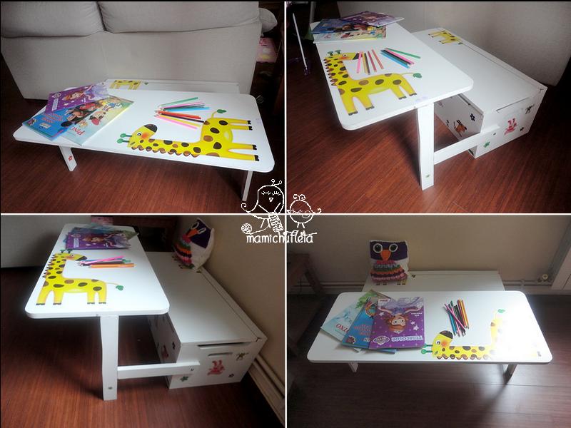 Bricolaje c mo hacer un banco infantil con ba l de almacenaje convertible en escritorio for Escritorio infantil