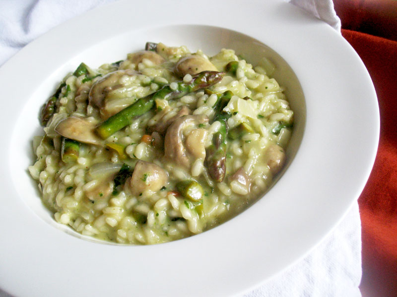 Asparagus and pesto risotto with mushrooms lisa 39 s for Amy ruth s home style southern cuisine