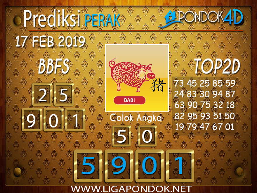 Prediksi Togel PERAK PONDOK4D 17 FEBRUARI 2019