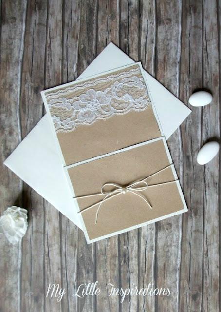 Bomboniere Handmade in stile Rustico Romantico - Partecipazioni coordinate - MLI