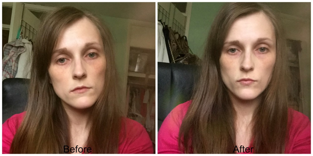 before and after primark perfect glow primer