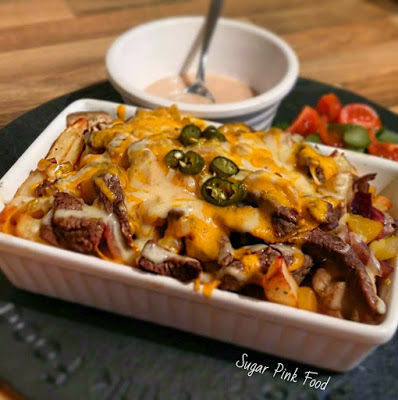 Philly Cheeseteak Fries recipe