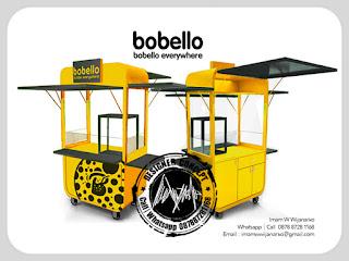 desain gerobak bubble bobello