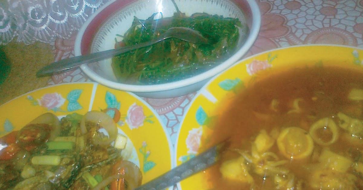 Cooking with Love!: Sotong Masak Pedas Berkuah, Ikan Tongkol Goreng Berkicap & Kangkung Goreng